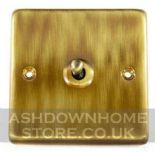 Standard Plate Antique Bronze Toggle Light Switches